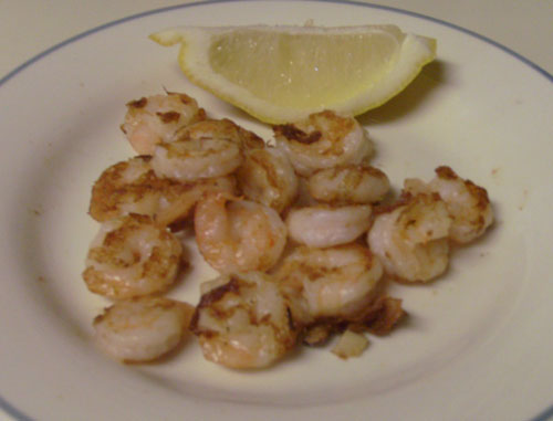 Garlic Shrimp – 1 tsp olive oil, minced garlic, 2.5 oz cooked shrimp ...